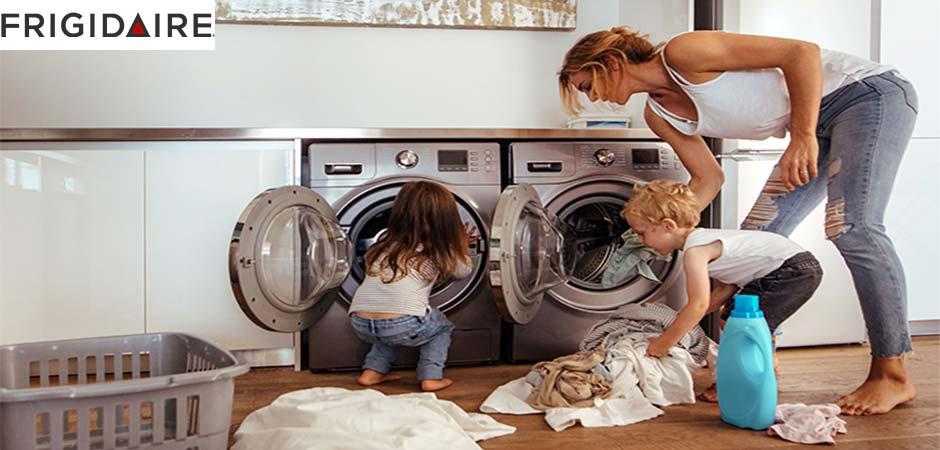 فعال کردن قفل کودک ماشین لباسشویی